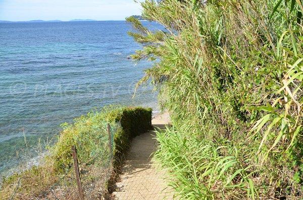 Sentier donnant accès à la plage de la Bouillabaisse