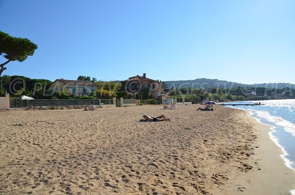 Beach at the entrance of Saint-Tropez