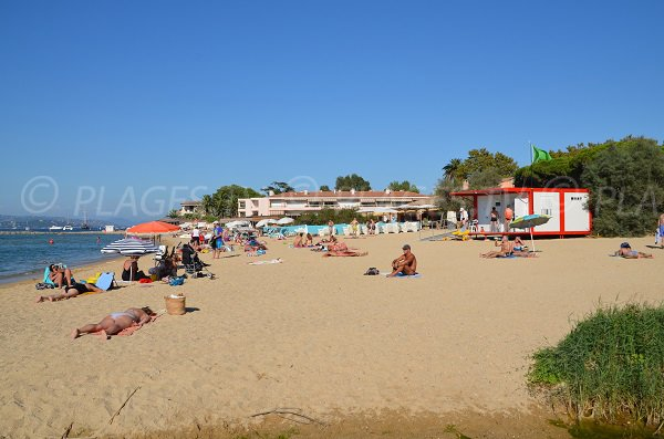 Bouillabaisse beach in Saint Tropez