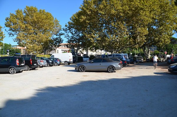Car park of the Bouillabaisse beach in Saint Tropez