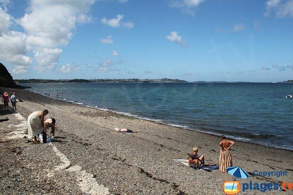 Environnement de la plage de boulgueff à Paimpol