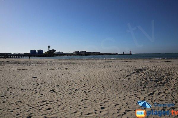 Partie ouest de la plage de Boulogne