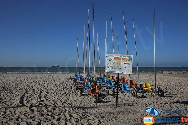 Char à voile sur la plage de Boulogne