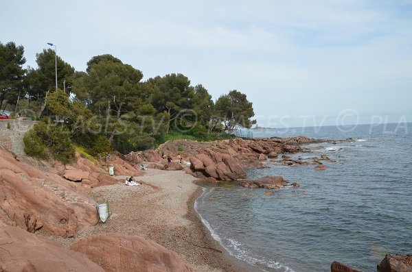 Boulouris cove in St Raphael in France