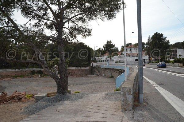 Environnement de la plage de Boulouris à St Raphaël
