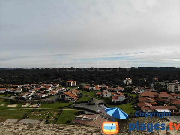 Environnement de la plage des Bourdaines à Seignosse