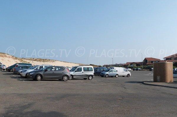 Parking gratuit de la plage des Bourdaines de Seignosse