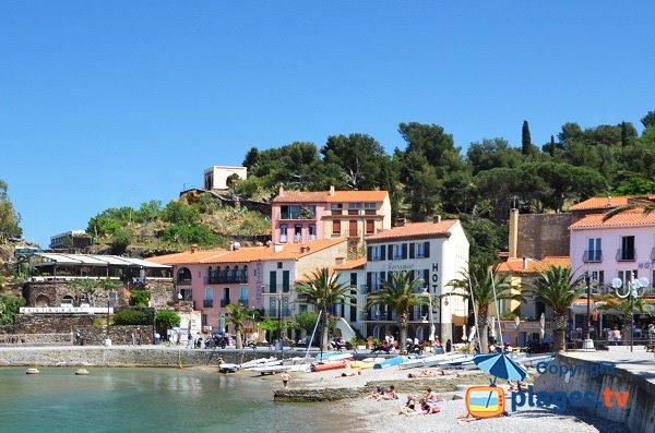 Photo de la plage de la Boutigue à Collioure