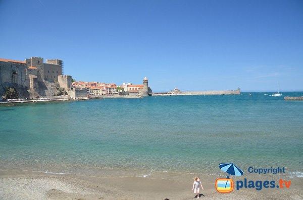 Plage de la Boutigue à Collioure