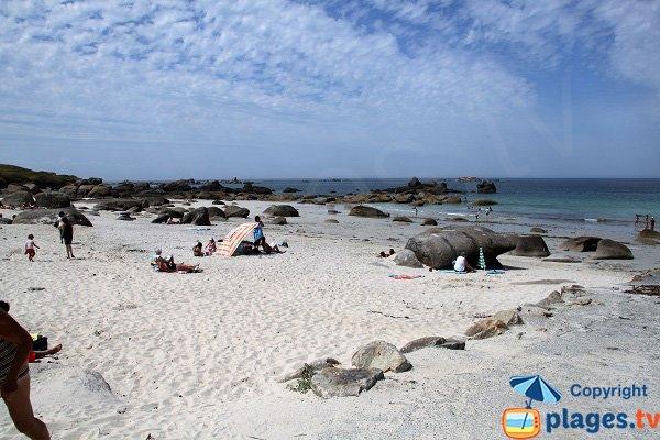 Belle plage à Kerlouan