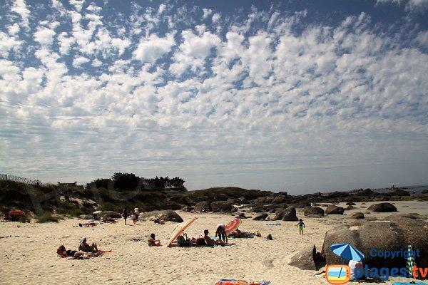 Dunes de la plage de Boutrouilles à Kerlouan