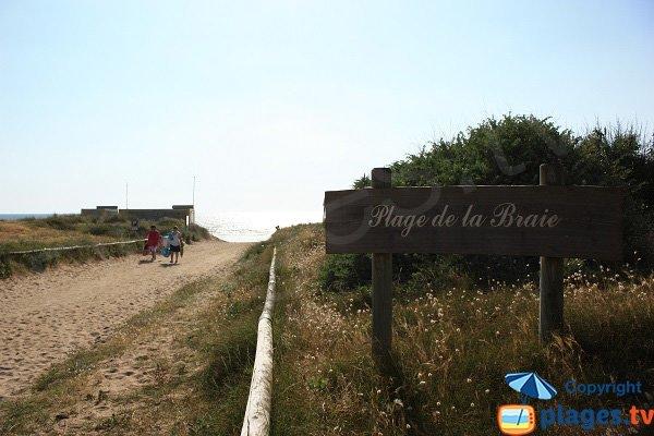 Accès à la plage de la Braie - Notre Dame de Monts