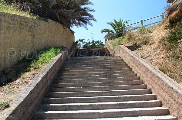 Access to the Bravone beach in Corsica