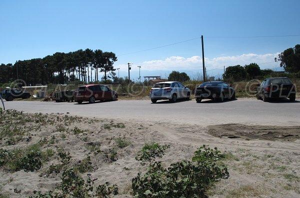 Parking of the Bravone marina - Corsica