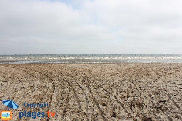 Baignade sur la plage de la Brèche à Audouville la Hubert