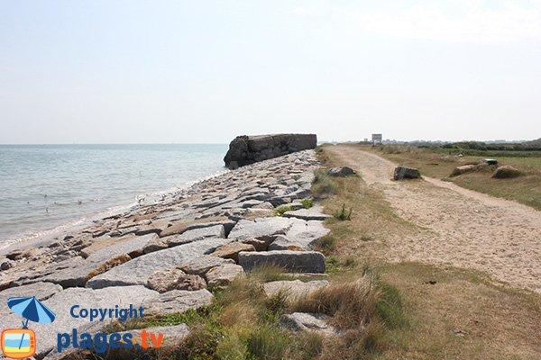 Beach of Brèche le Bisson in Graye sur Mer