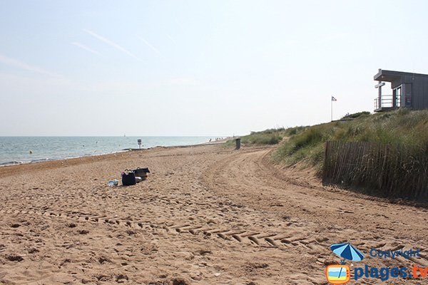 Graye beach in the area of Courseulles-sur-Mer