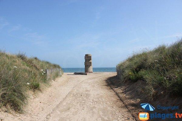 Access to Brèche de Graye beach - Normandy