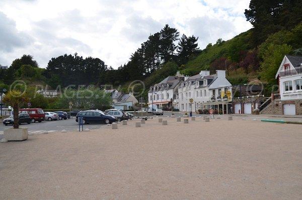Parking de la plage du Bréhec à Plouha