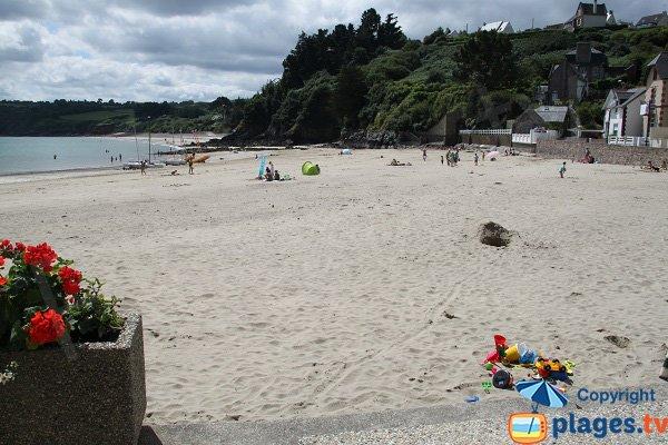 Photo de la plage du Bréhec à Plouha en été