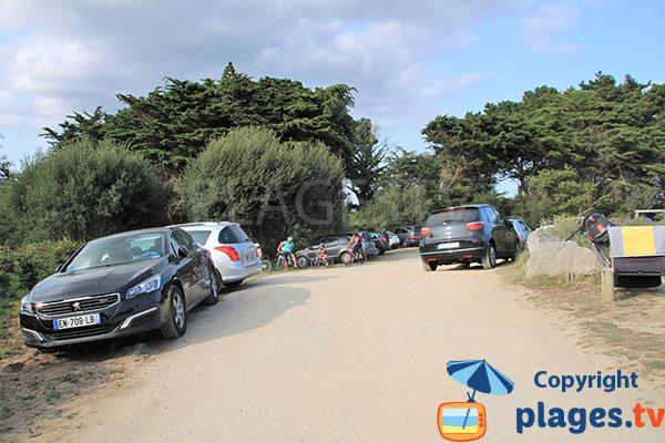 Parking de la plage de Brénéguy