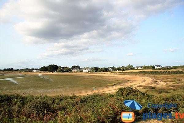 vue de la plage côté Ouest