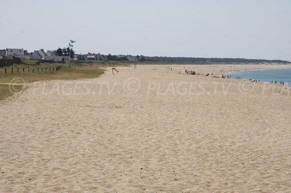 Beach in La Turballe in Loire Atlantique in France