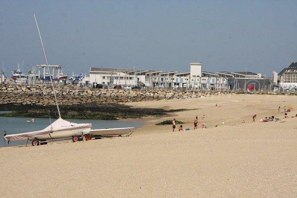 Beach and port of La Turballe