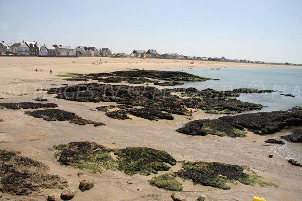 Bretons beach in La Turballe in France