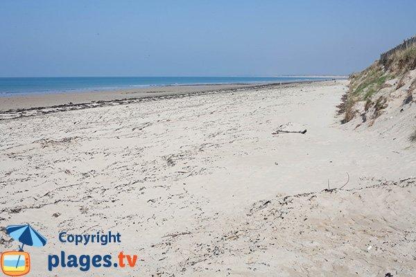 Photo de la plage de Bretteville-sur-Ay dans la Manche