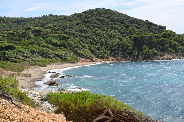 Photo of the Brouis beach in La Croix Valmer in France