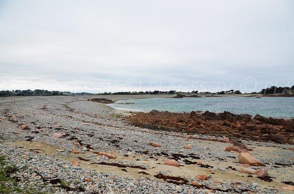 Photo de la plage en face de Buguélès - Côtes d'Armor