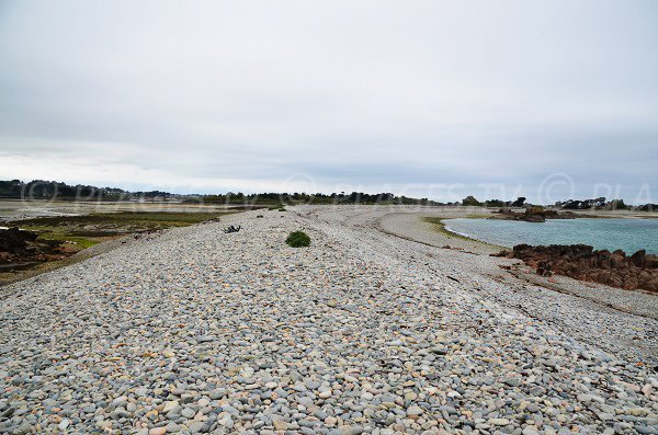 Photo de la plage de Buguélès en Bretagne