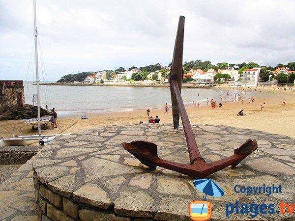 Photo de la plage dans le centre de Saint Palais sur Mer