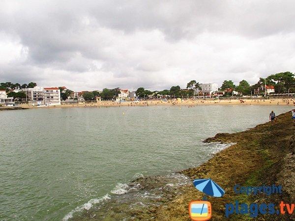 Bureau beach in Saint Palais sur Mer in France