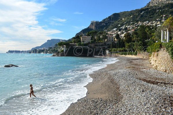 Beach near train station of Roquebrune Cap Martin