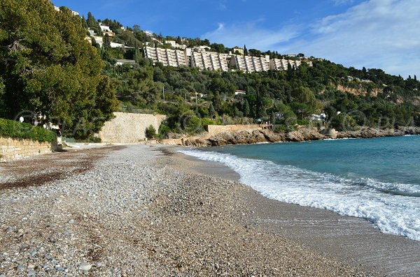 Buse beach in Roquebrune Cap Martin in France