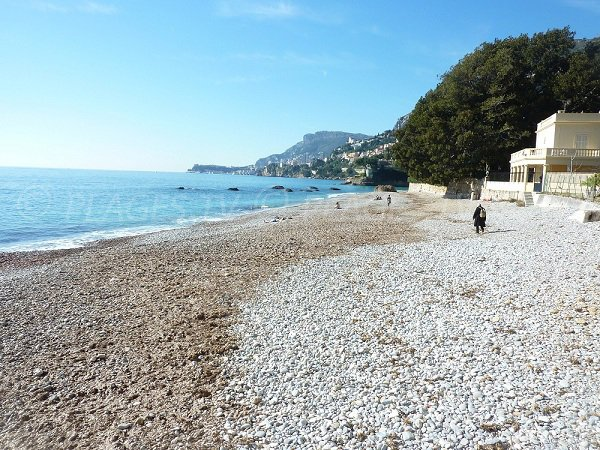 Stones on the Buse beach of Roquebrune Cap Martin
