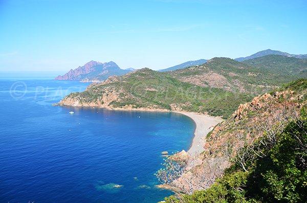 Foto della spiaggia di Bussaglia - Golfo di Porto - Serriera - Corsica