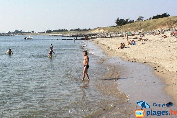 Cabane beach in  Noirmoutier in France