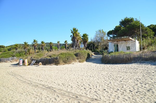 First aid station on the Cabasson beach - Bormes les Mimosas