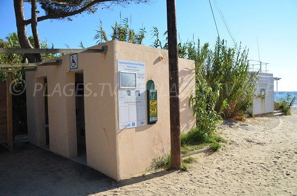 Toilettes et poste de secours