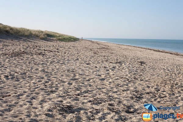 Photo of south beach in Gouville sur Mer - France