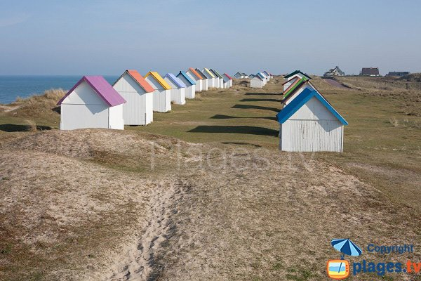 Huts in Gouville sur Mer