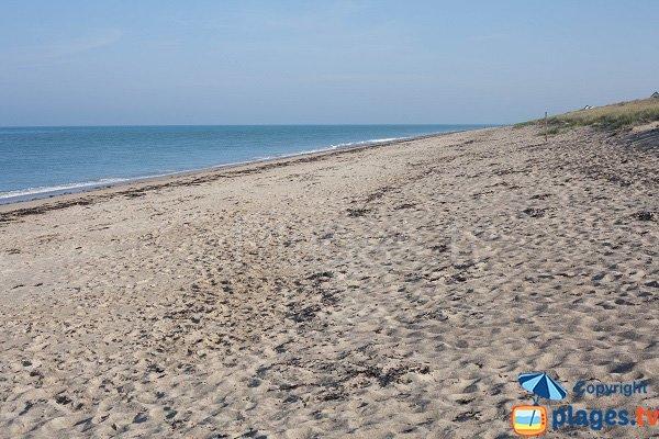 South beach in Gouville sur Mer