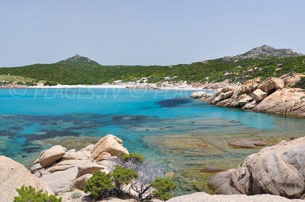 Vue globale de la plage d'Argent à Sartène