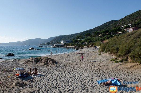 Extrémité de la plage de Cala di Sole - Ajaccio