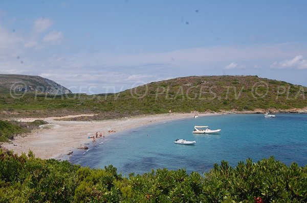 Photo de la plage de la Cala Francese à Macinaggio - Cap Corse