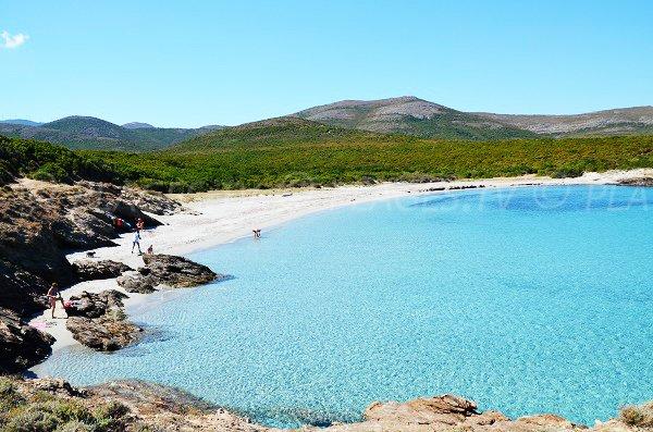 Photo de la crique de Cala Genovese à Macinaggio en Corse