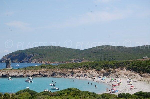 Photo de la plage de la Cala Genovese de Macinaggio